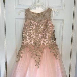 MAKE AN OFFER girls pageant dress SZ 16 NWT